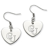 Campbell Fighting Camels Heart Drop Earrings