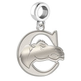 Campbell Fighting Camels Natural Finish Logo Dangle Charm