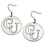 Campbell Fighting Camels Stainless Steel Disc Earrings