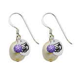 Central Arkansas Bears Color and Freshwater Pearl Earrings