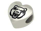 Central Arkansas Bears Heart Bead Fits European Style Bracelets