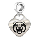 Central Arkansas Bears Heart Drop Charm
