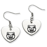 Central Arkansas Bears Heart Drop Earrings