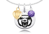 Central Arkansas Bears Necklace with Charm Accents