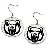 Central Arkansas Bears Stainless Steel Disc Earrings