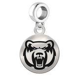 Central Arkansas Bears Round Drop Charm