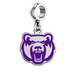 Central Arkansas Bears Silver Logo and School Color Drop Charm