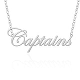 Christopher Newport Captains Sterling Silver Cutout Script Necklace