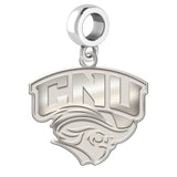 Christopher Newport Captains Natural Finish Logo Dangle Charm