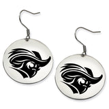 Christopher Newport Captains Stainless Steel Disc Earrings