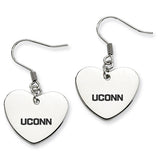 Connecticut Huskies Heart Drop Earrings