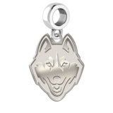 Connecticut Huskies Natural Finish Logo Dangle Charm