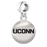 Connecticut Huskies Round Drop Charm