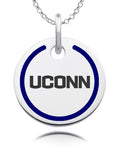 Connecticut Huskies Round Enamel Charm