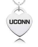 Connecticut Huskies Sterling Silver Heart Charm