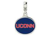 Connecticut Huskies UCONN Dangle Charm Fits All European Style Charm Bracelets