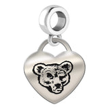 Cornell Big Red Heart Drop Charm