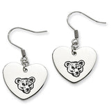 Cornell Big Red Heart Drop Earrings
