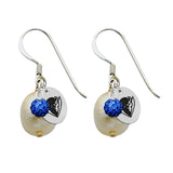 DePaul Blue Demons Color and Freshwater Pearl Earrings