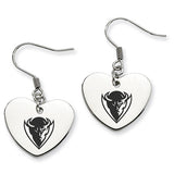 DePaul Blue Demons Heart Drop Earrings