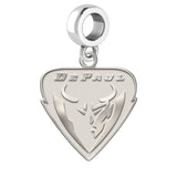 DePaul Blue Demons Natural Finish Logo Dangle Charm