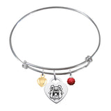 Fresno State Bulldogs Sterling Silver Bangle Bracelet