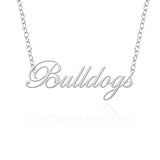 Fresno State Bulldogs Sterling Silver Cutout Script Necklace