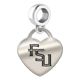 Florida State Seminoles Heart Drop Charm