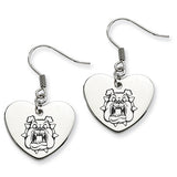 Fresno State Bulldogs Heart Drop Earrings