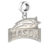 George Mason Patriots Natural Finish Logo Dangle Charm