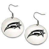 George Mason Patriots  Stainless Steel Disc Earrings