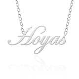 Georgetown Hoyas Sterling Silver Cutout Script Necklace