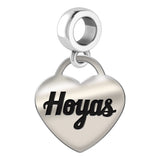 Georgetown Hoyas Heart Drop Charm