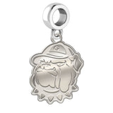 Georgetown Hoyas Natural Finish Logo Dangle Charm