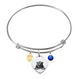 Georgia State Panthers Sterling Silver Bangle Bracelet