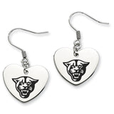 Georgia State Panthers Heart Drop Earrings