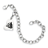 Georgia State Panthers Stainless Heart Bracelet