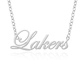 Grand Valley Lakers Sterling Silver Cutout Script Necklace