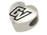 Grand Valley Lakers Heart Bead