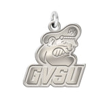 Grand Valley Lakers Sterling Silver Natural Finish Charm
