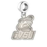 Grand Valley State Lakers Natural Finish Logo Dangle Charm