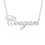 Houston Cougars Sterling Silver Cutout Script Necklace