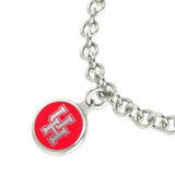 Houston Cougars Silver Charm Bracelet