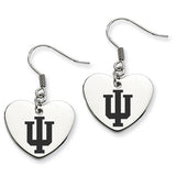 Indiana Hoosiers Heart Drop Earrings