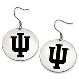 Indiana Hoosiers Stainless Steel Disc Earrings