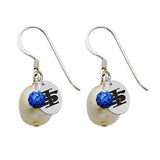 Indiana State Sycamores Color and Freshwater Pearl Earrings