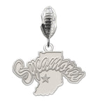 Indiana State Sycamores Natural Color Dangle Charm