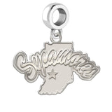 Indiana State Sycamores Natural Finish Logo Dangle Charm