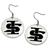 Indiana State Sycamores Stainless Steel Disc Earrings