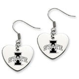 Iowa State Cyclones Heart Drop Earrings